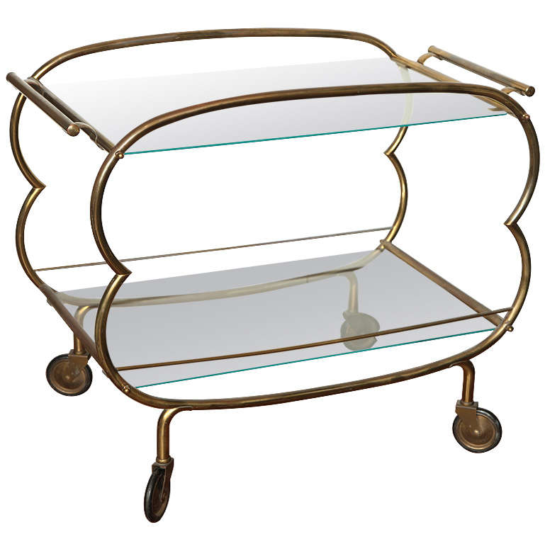 Mid Century Modern Bronze Bar Cart At 1stdibs