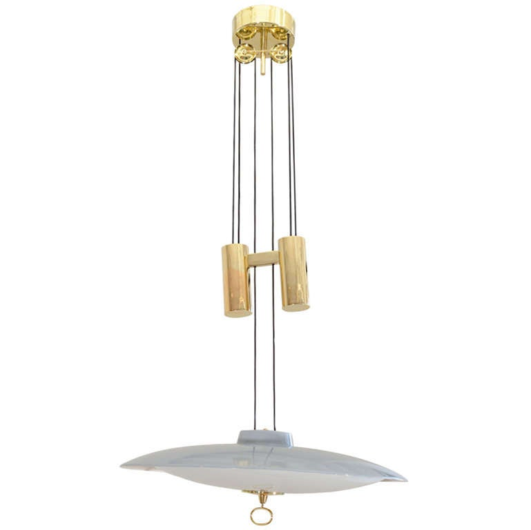 Height Adjustable Louisanne Pendant Light: Gaetano Sciolari Adjustable Height Italian Ceiling Fixture