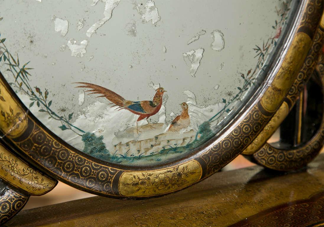 Wood Attractive 19th Century Oriental Vanity Table Mirror For Sale