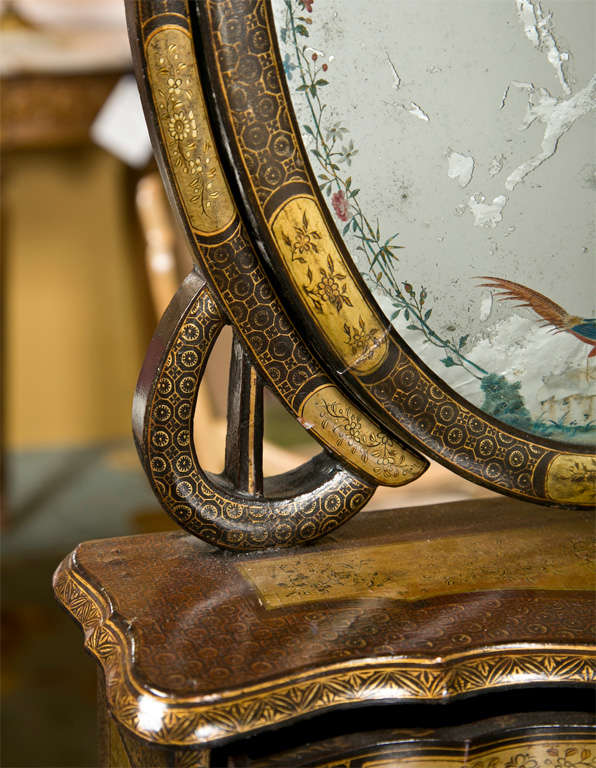 Attractive 19th Century Oriental Vanity Table Mirror For Sale 2