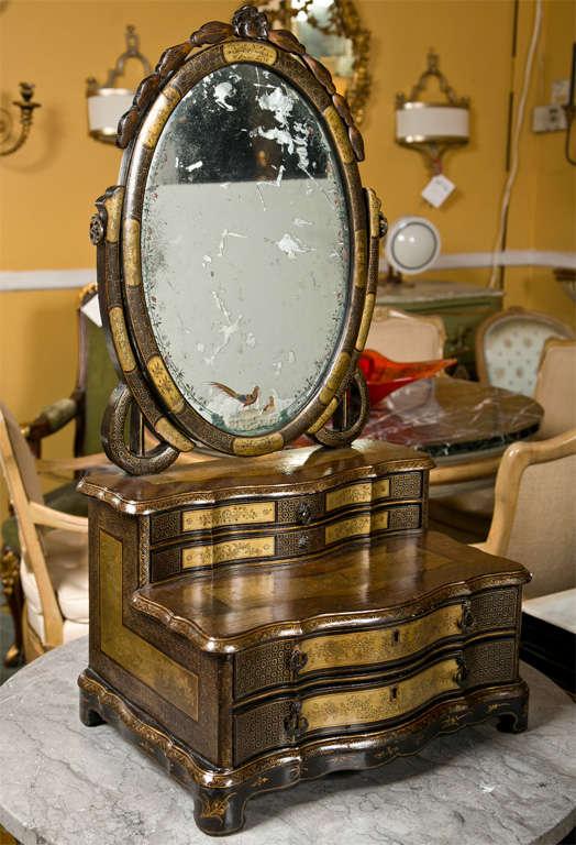 Attractive 19th Century Oriental Vanity Table Mirror For Sale 4