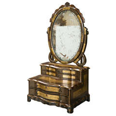 Attractive 19th Century Oriental Vanity Table Mirror