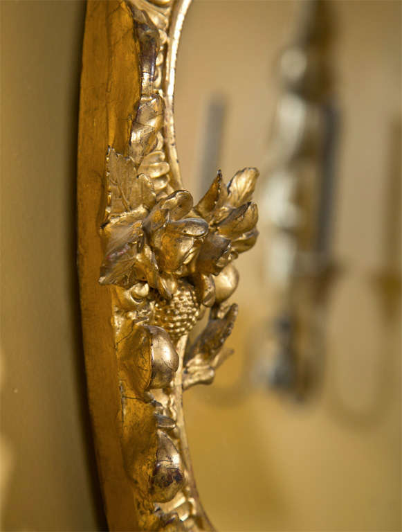 French Art Nouveau Style Giltwood Mirror 6