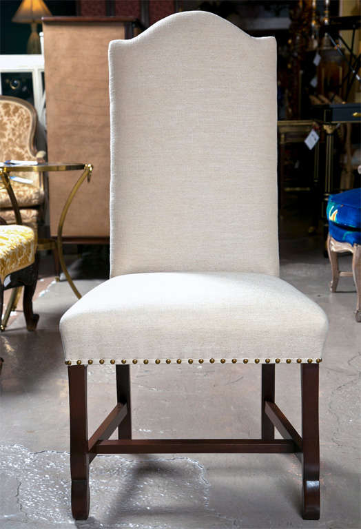 set of 12 upholstered custom dining chairs at 1stdibs