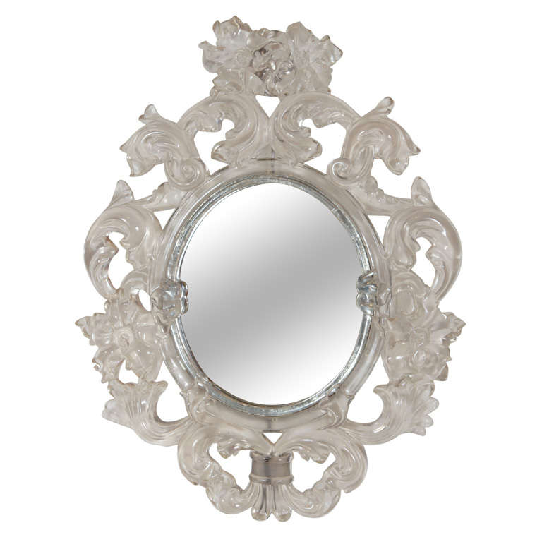 a modern baroque lucite mirror at 1stdibs