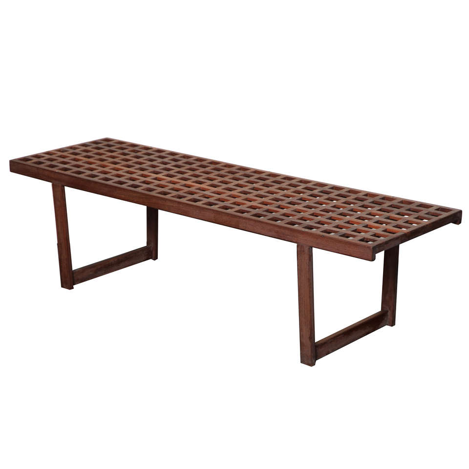 Mid 20th C Palisandre Long Bench At 1stdibs