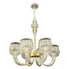 Mid Century Barovier and Toso Murano Glass Chandelier