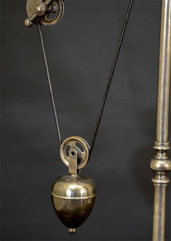 20th Century Industrial Tripod Floor Lamp With Funnel