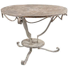 Painted Round Iron Table