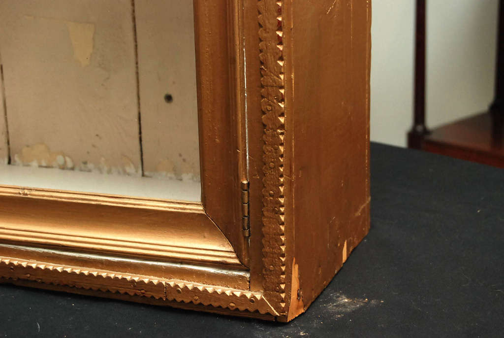 Tramp Art Gold Hanging Cabinet For Sale 1