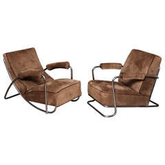 Pair of lounge chairs by Coquery