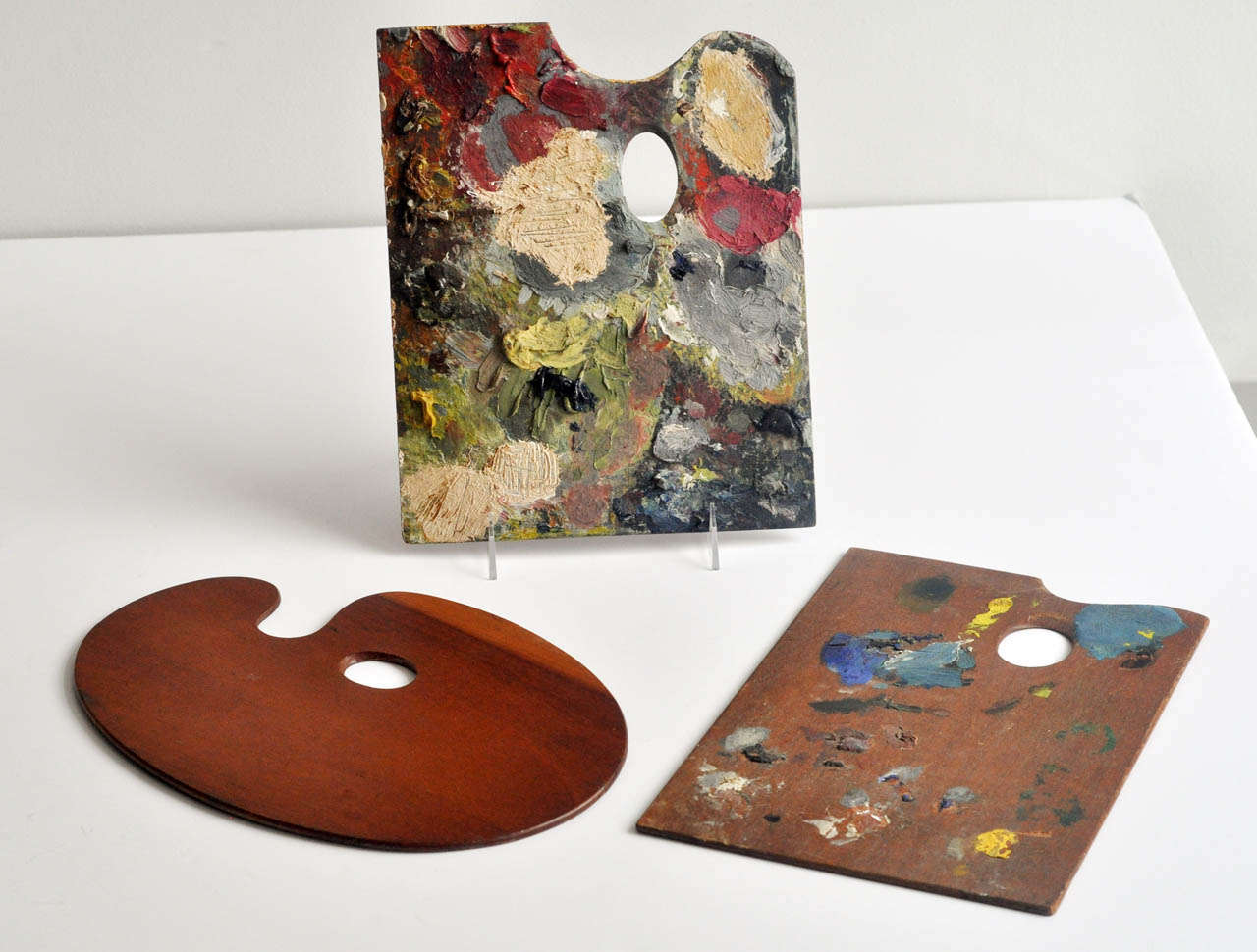 Group Of Three Vintage Painter S Palettes At 1stdibs