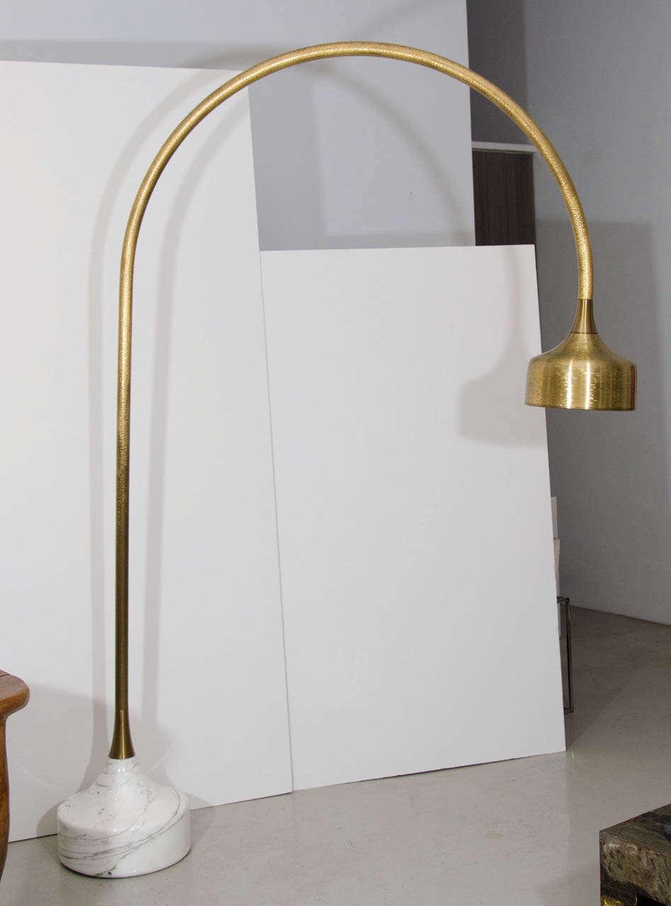 luciano frigerio marble base golden arc floor lamp at 1stdibs. Black Bedroom Furniture Sets. Home Design Ideas