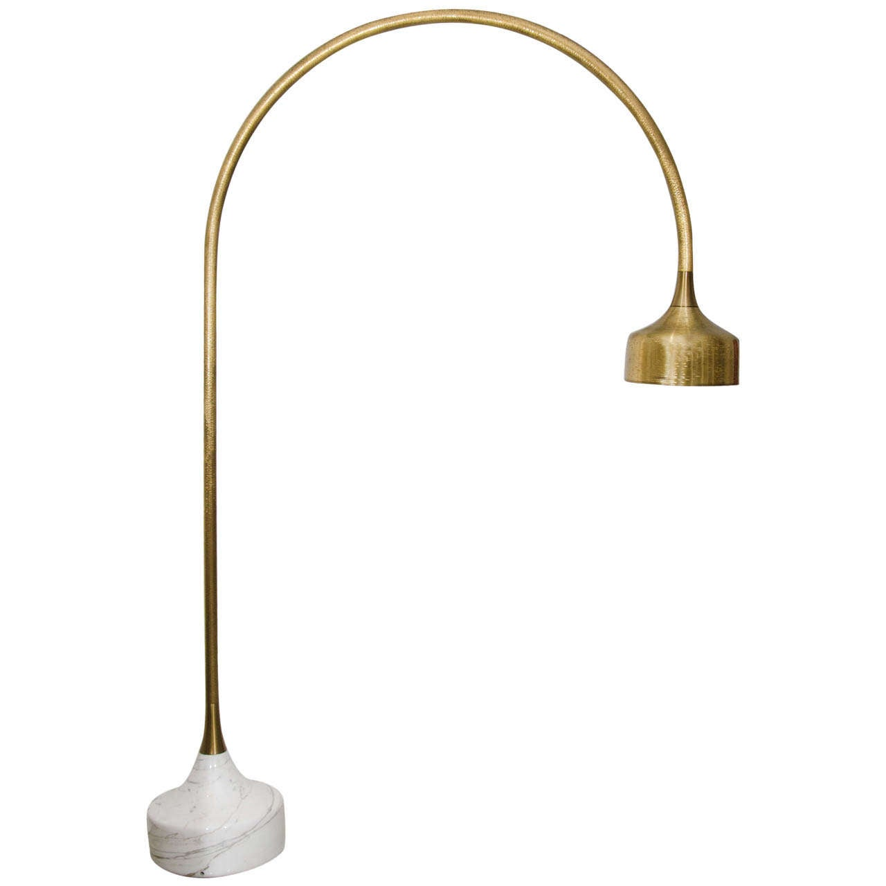 Vintage brass and marble three arm arc floor lamp at 1stdibs - Luciano Frigerio Marble Base Golden Arc Floor Lamp 1