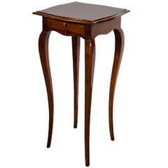 Art Deco Drinks/Side Table in Exotic Book-Matched Burled Walnut