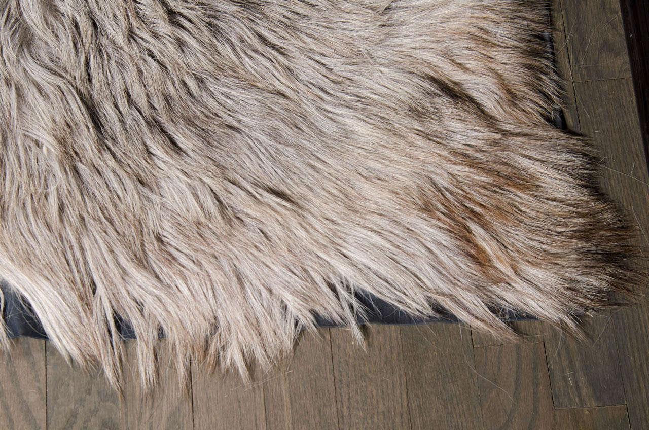 Long Hair Silver Goat Skin Rug At 1stdibs