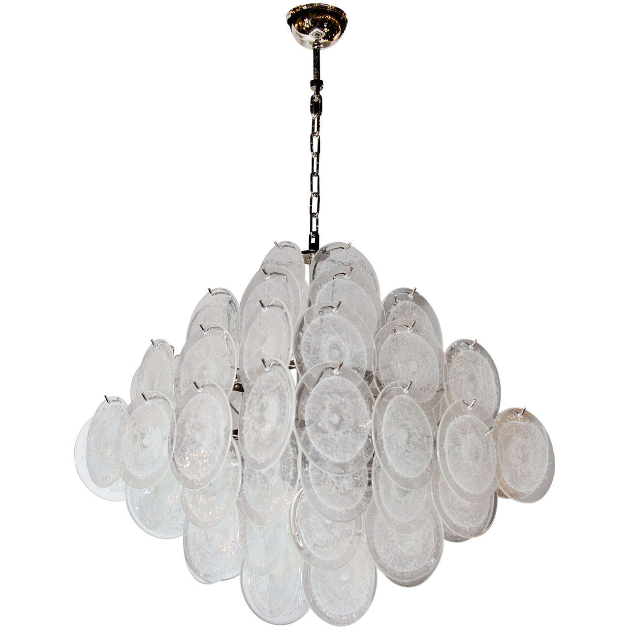 Ultra Chic Murano Glass Disc Vistosi Chandelier