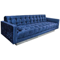 Gorgeous Velvet Floating Tufted Sofa