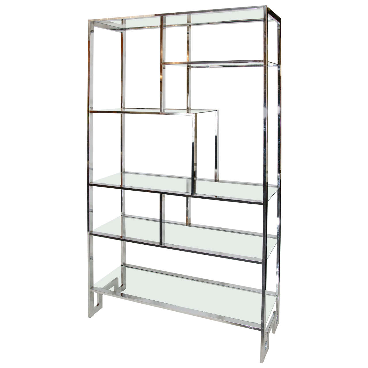 milo baughman chrome etagere for sale at 1stdibs. Black Bedroom Furniture Sets. Home Design Ideas