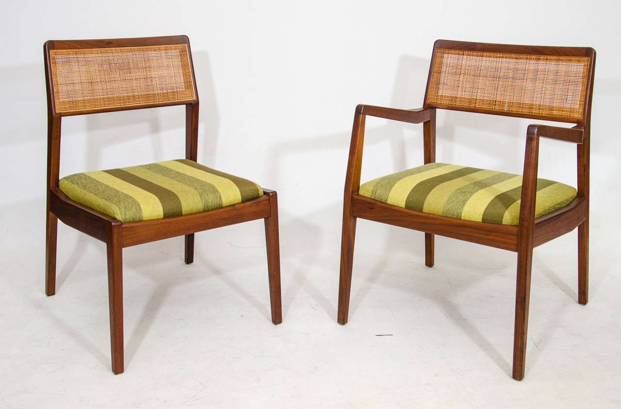 Jens risom floating bench for sale at 1stdibs - Set Of Eight Dining Chairs By Jens Risom 2