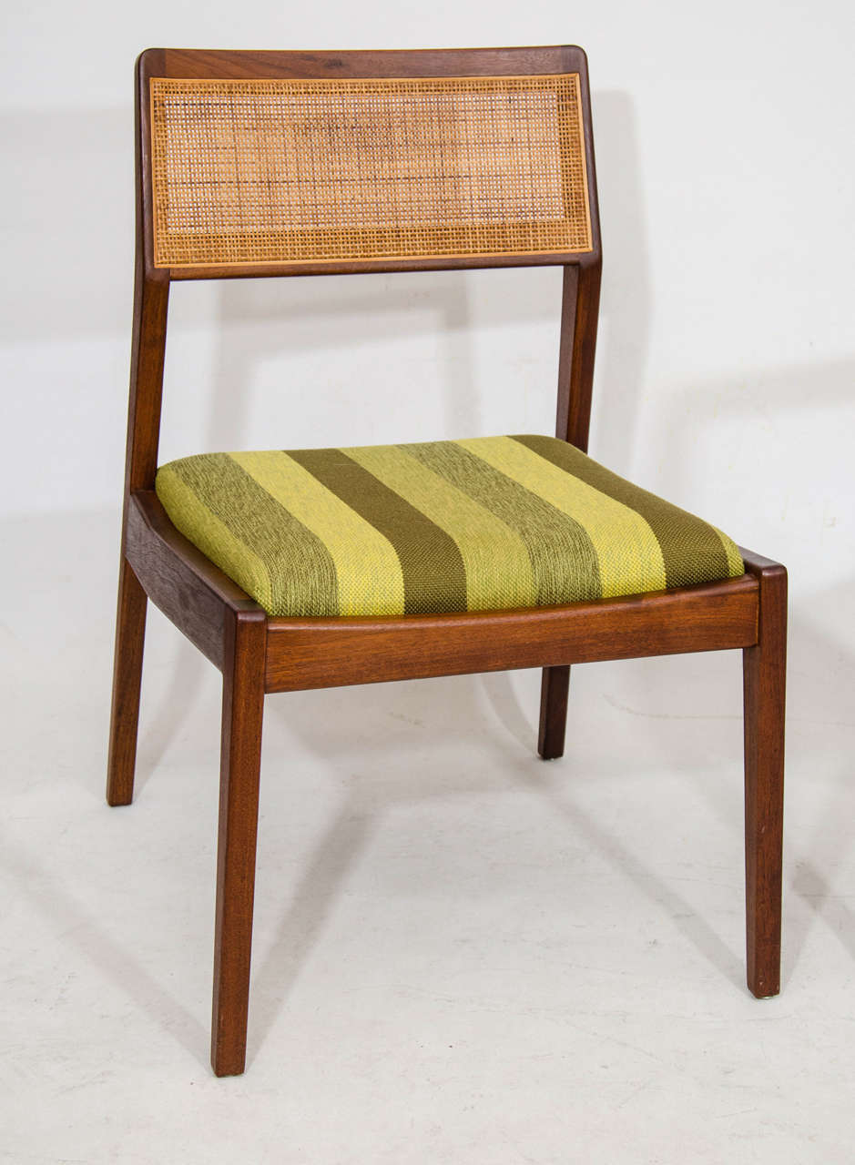 Jens risom floating bench for sale at 1stdibs - Set Of Eight Dining Chairs By Jens Risom 3