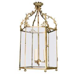 18th Century Georgian Hexagonal Brass Lantern