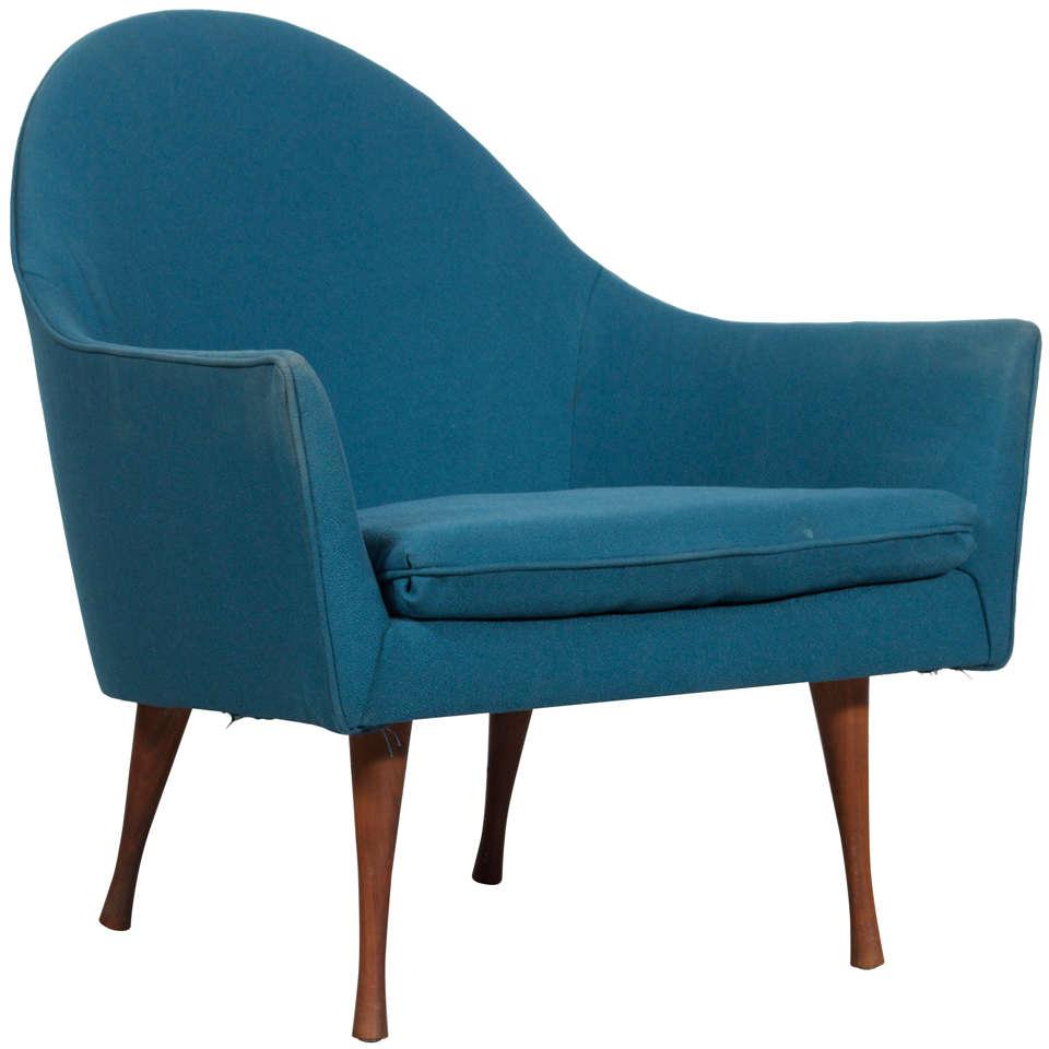 Paul McCobb for Widdi b Symmetric Lounge Chair at 1stdibs