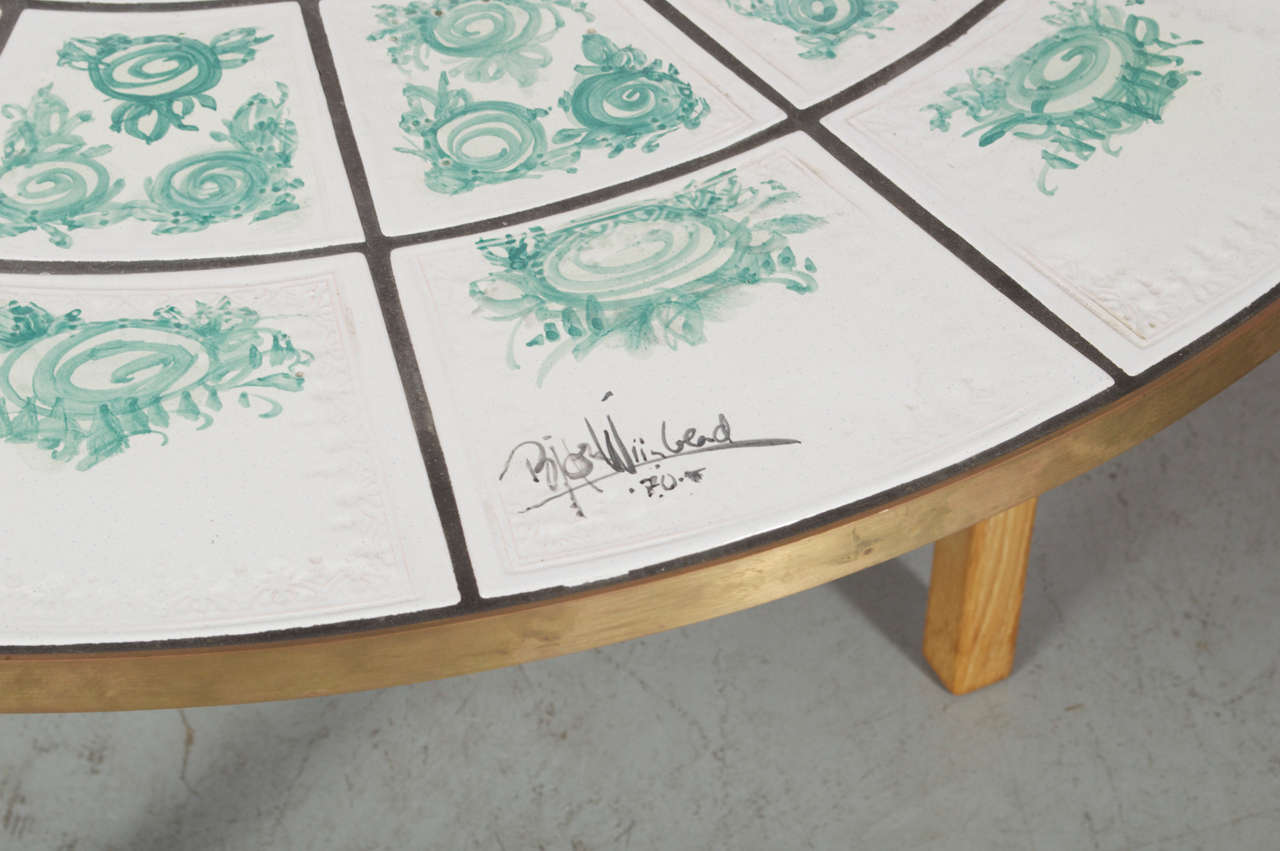 Wiinblad Tiles: Tiled Table At 1stdibs