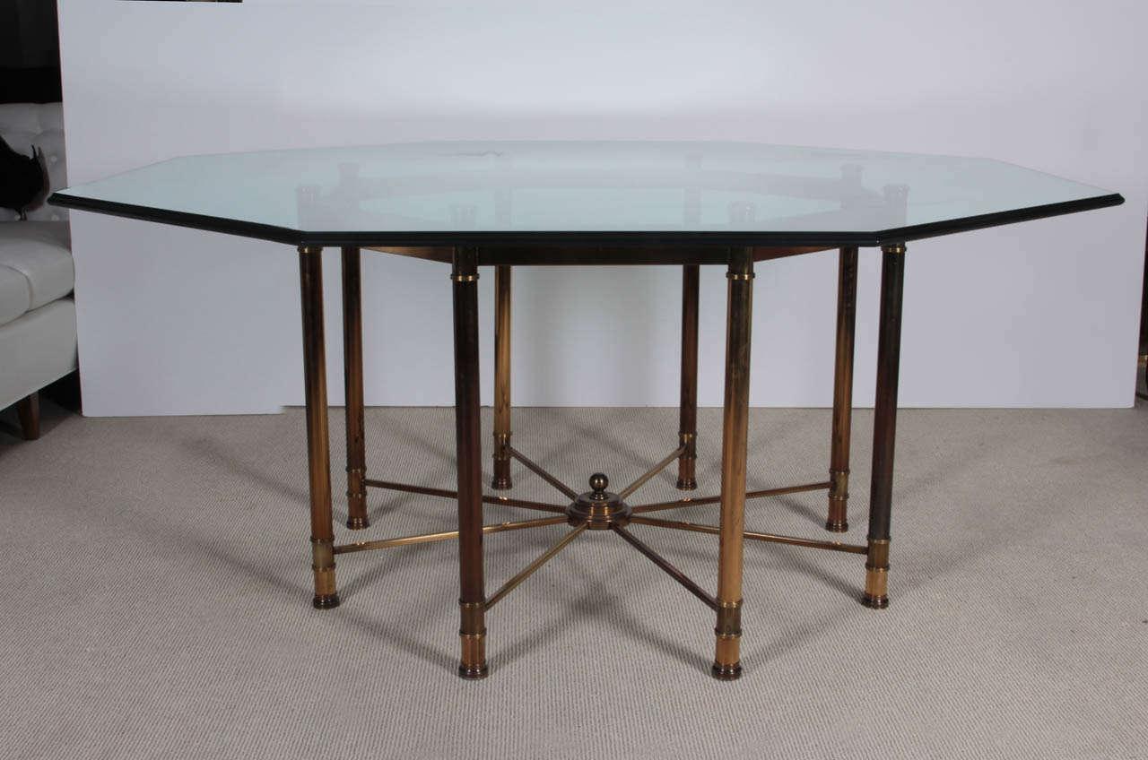 mastercraft oversized brass octagonal dining table at 1stdibs