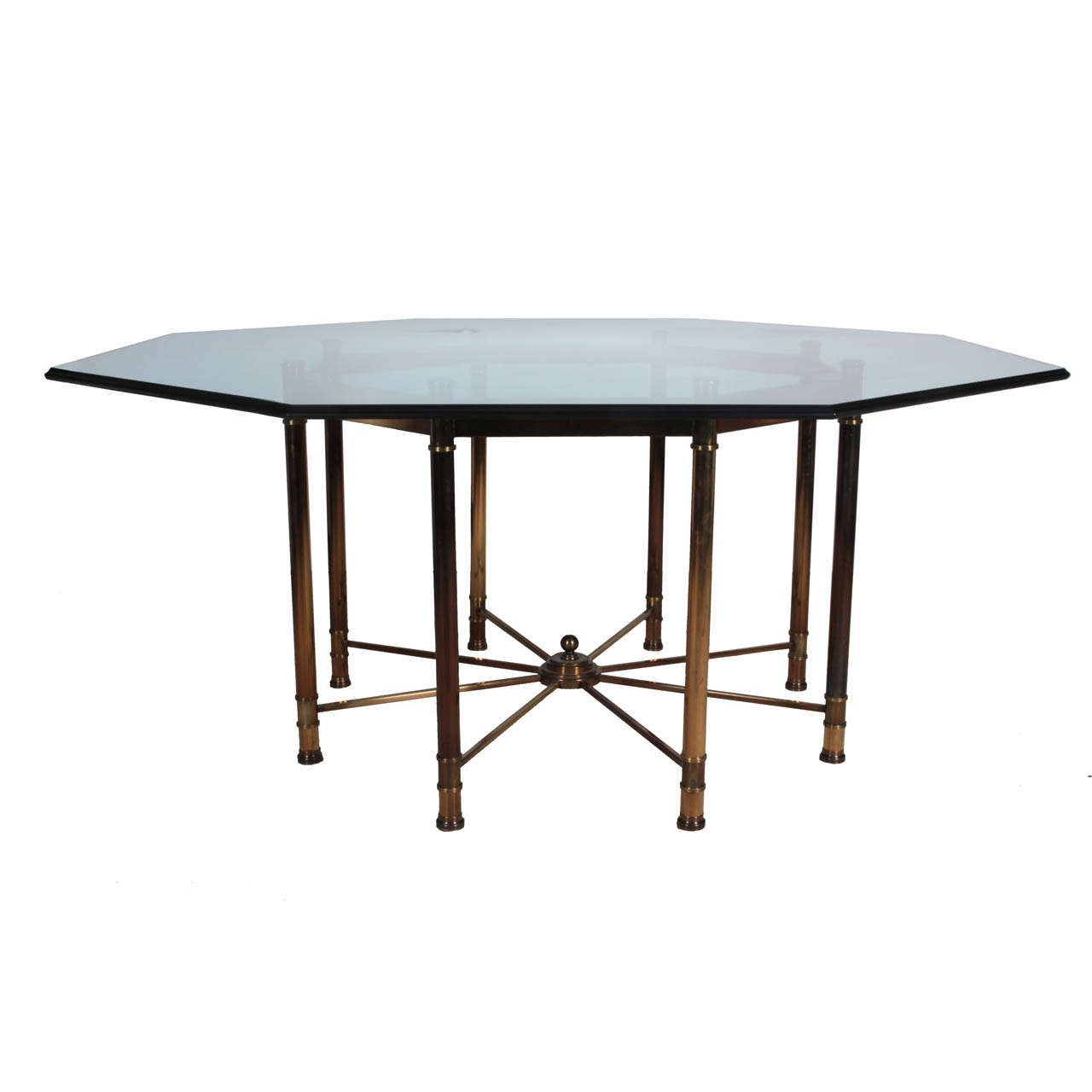 Mastercraft Oversized Brass Octagonal Dining Table At 1stdibs