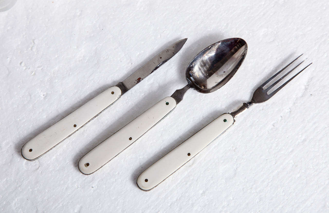 Spa , Glassware and Utensil Set In Good Condition For Sale In New York, NY