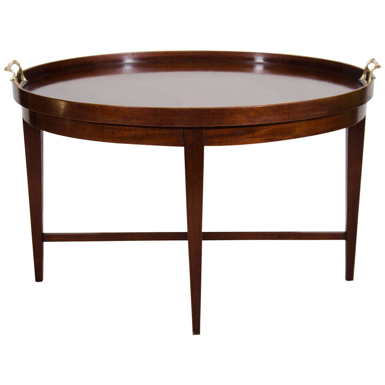 Mid century oval shaped coffee or cocktail table by baker furniture co at 1stdibs Baker coffee table