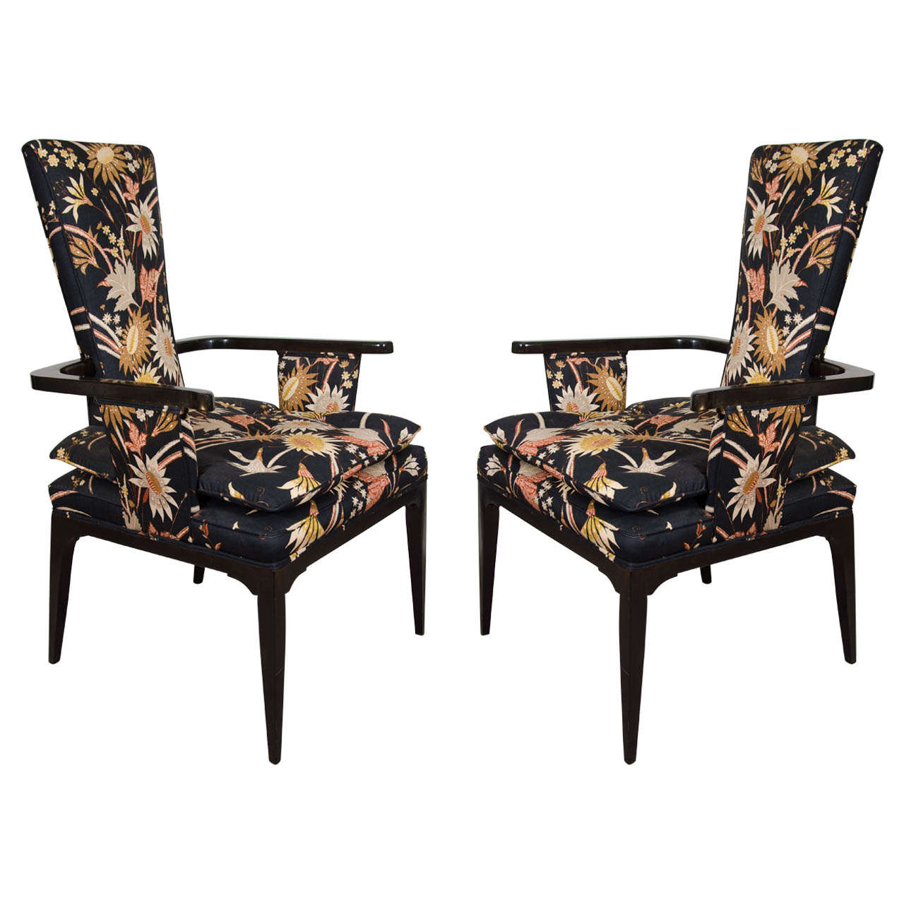 A Pair Of Hollywood Regency Style Armchairs In The Style Of Tommi Parzinger At 1stdibs