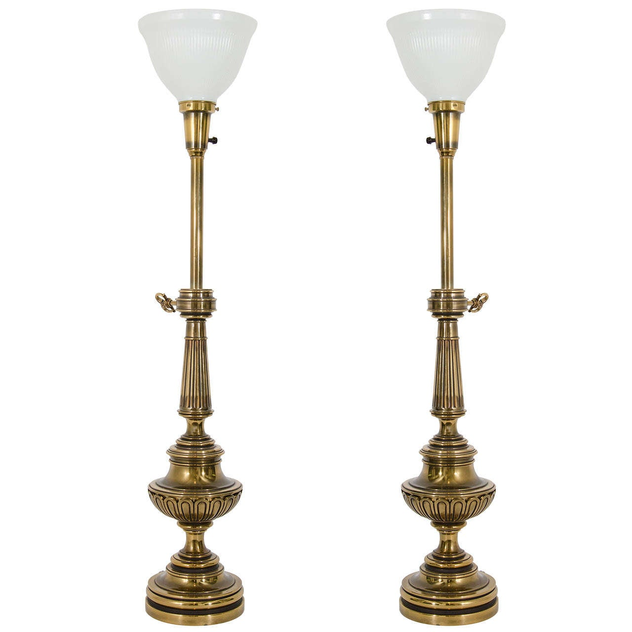A Mid Century Pair Of Torchiere Table Lamps By Stiffel At
