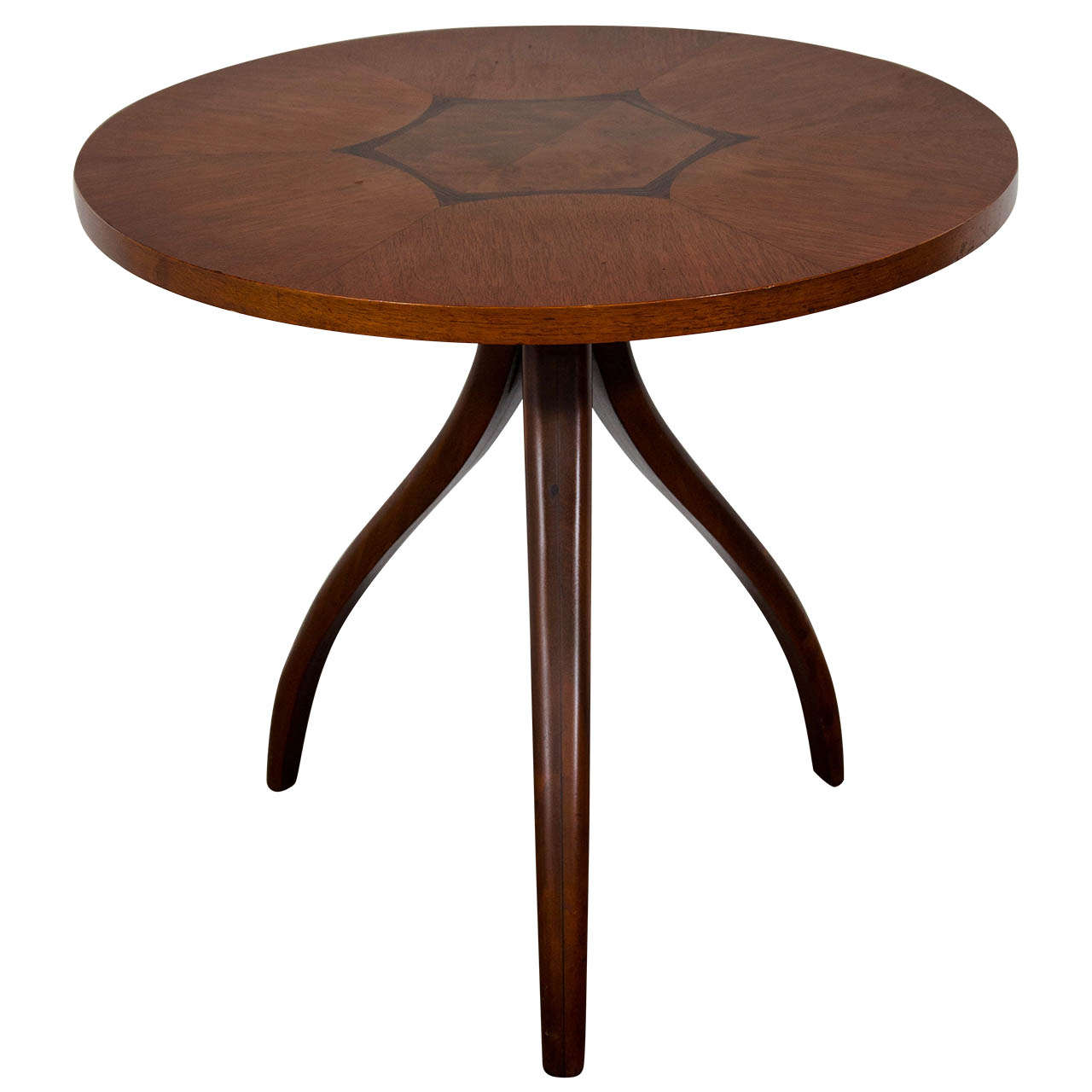 A mid century inlaid tripod gueridon table by drexel at for Table gueridon