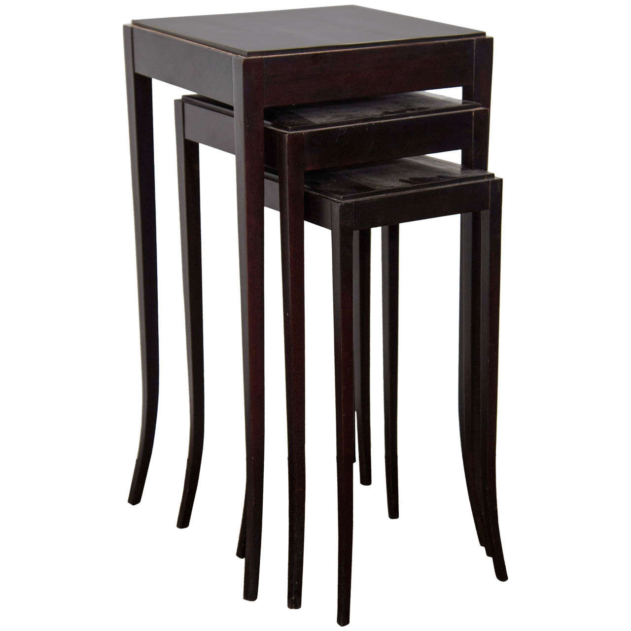 Barbara Barry Cabinet Barbara Barry Mahogany Nesting Tables For Baker At 1stdibs