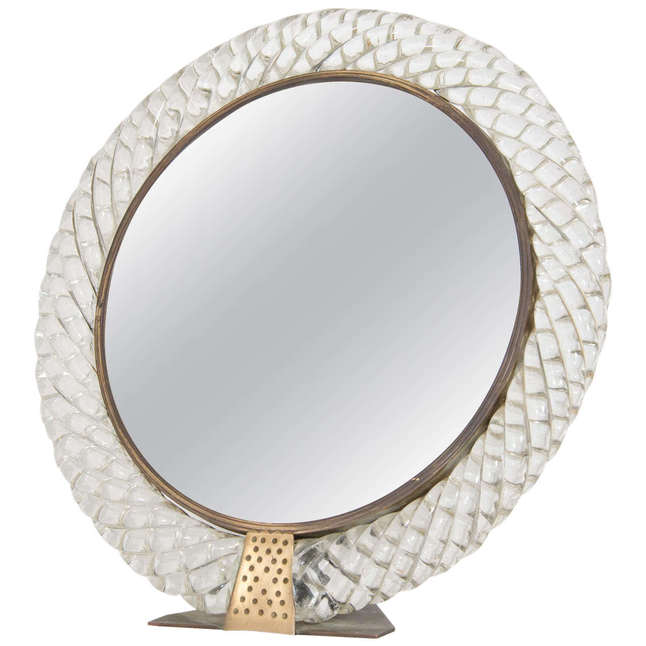 A Mid Century Venini Vanity Or Table Top Mirror For Sale