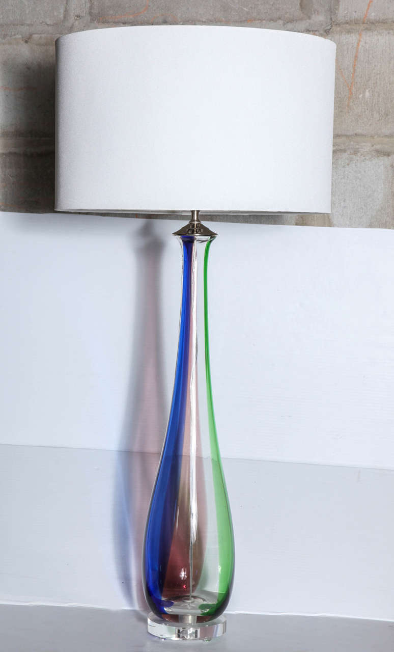 Tall slim murano glass table lamps for sale at 1stdibs for Tall slim lamp table