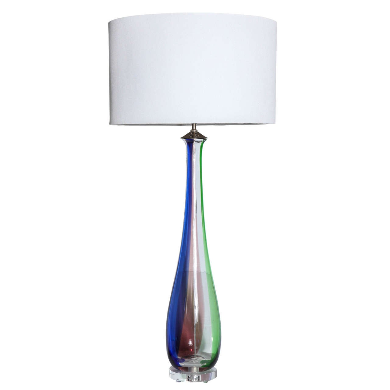 tall slim murano glass table lamps at 1stdibs. Black Bedroom Furniture Sets. Home Design Ideas