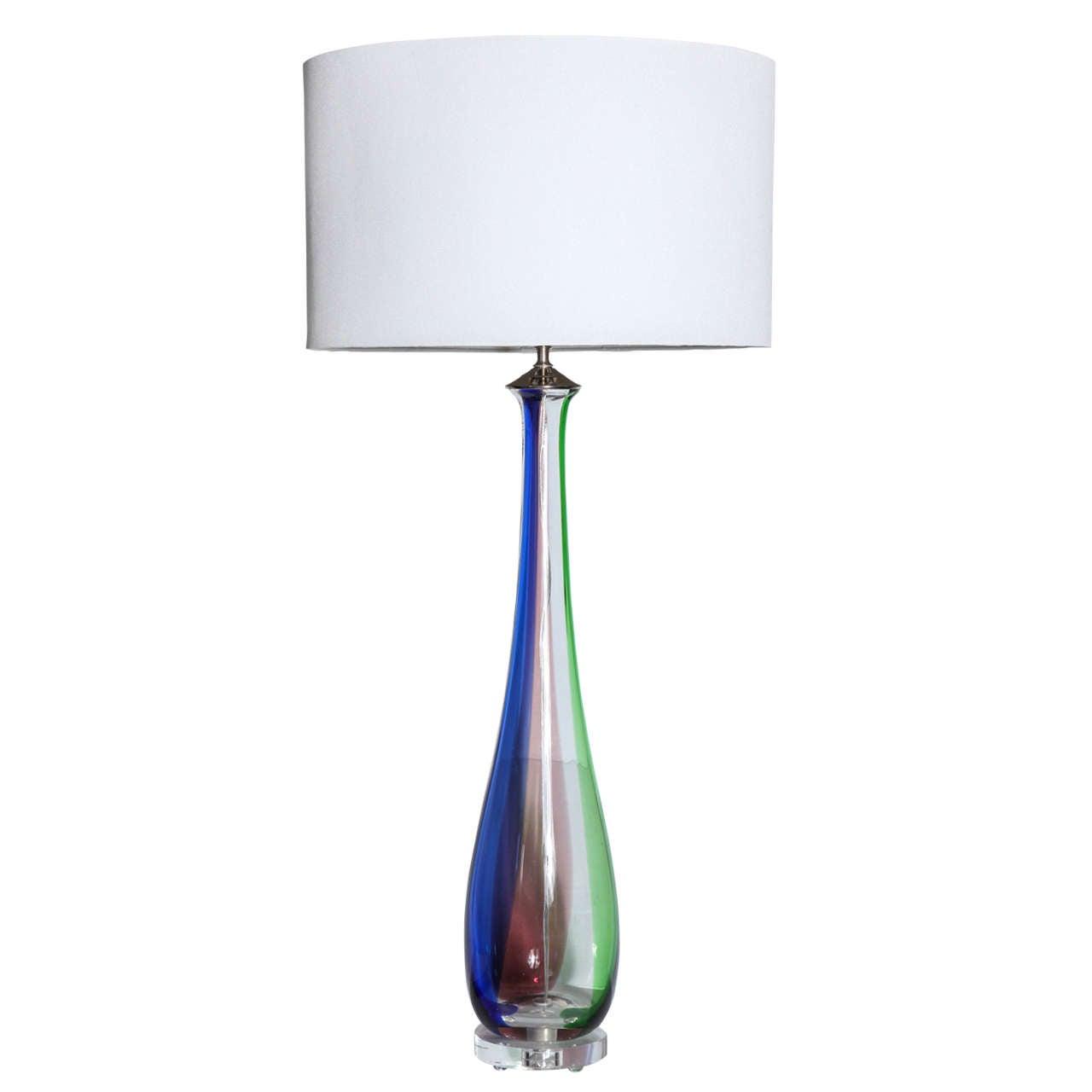 Tall Slim Murano Glass Table Lamps At 1stdibs