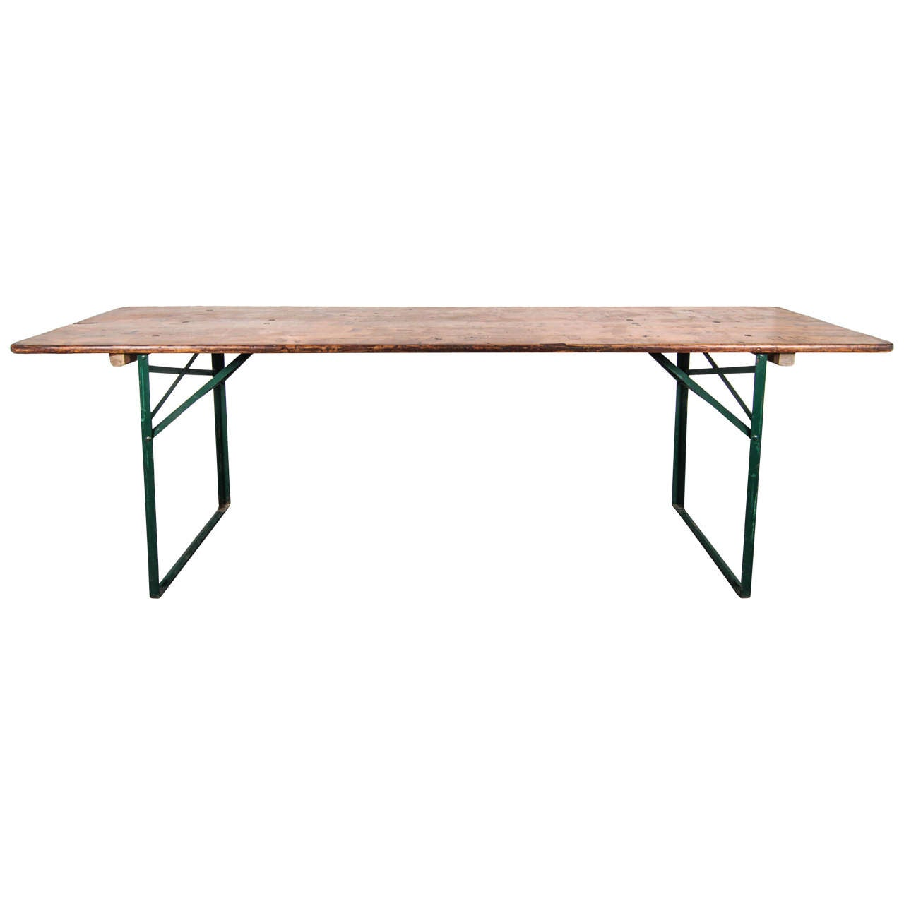 USA Table And Bench With Metal Legs At 1stdibs. Full resolution  image, nominally Width 1280 Height 1280 pixels, image with #965A35.