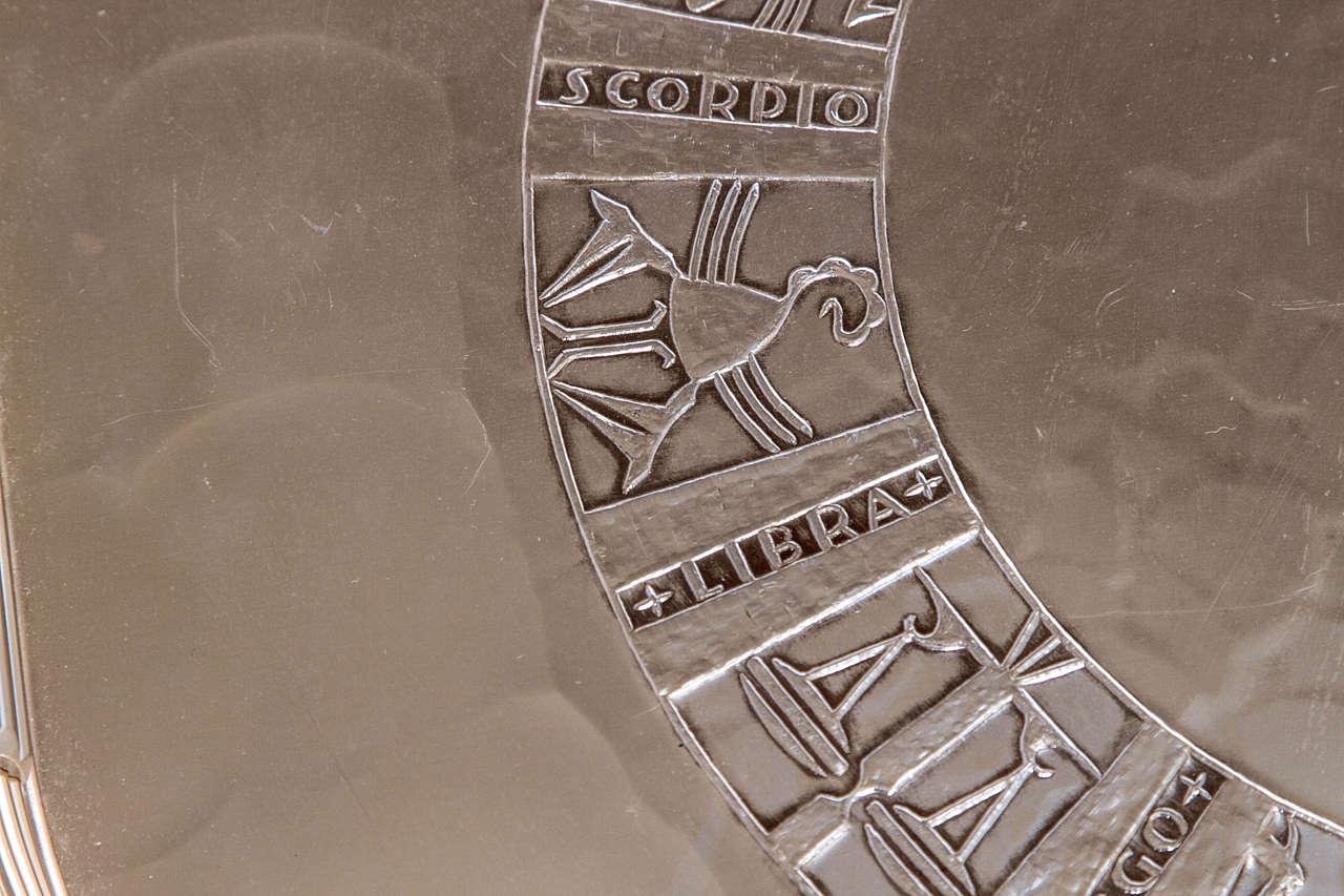 Massive Arthur Armour Hand Wrought Aluminum Handled Zodiac