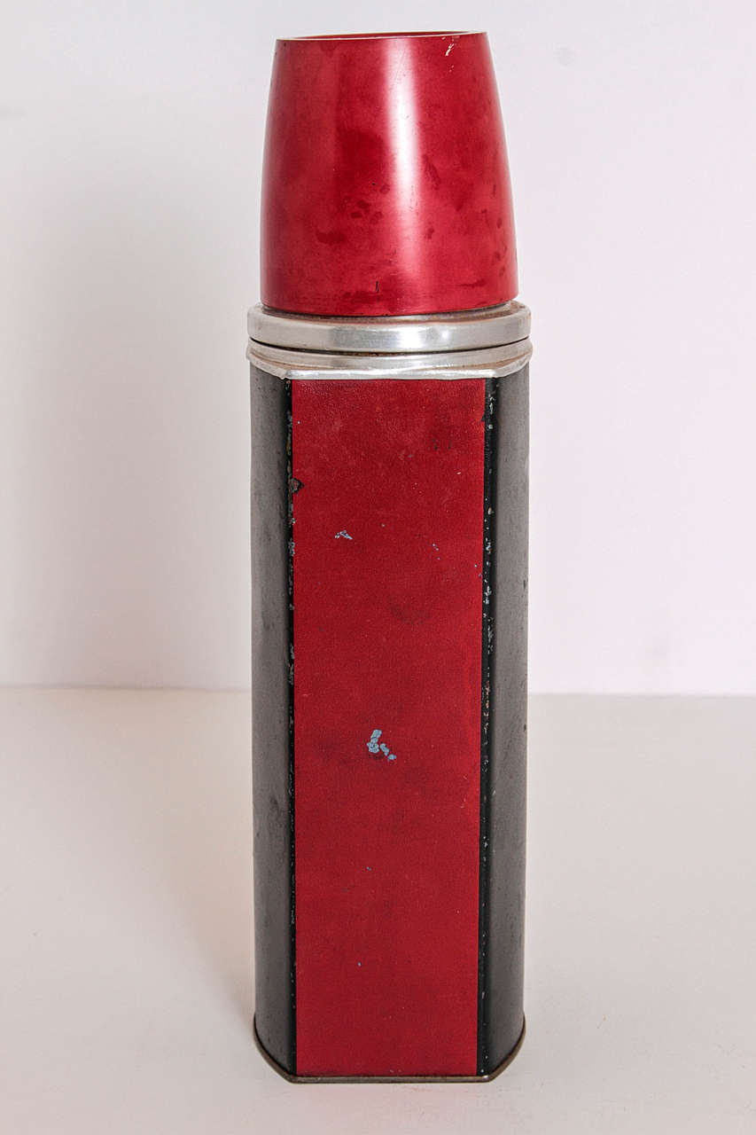 Art Deco Rare Patented Machine Age Thermos Design by Henry Dreyfuss For Sale