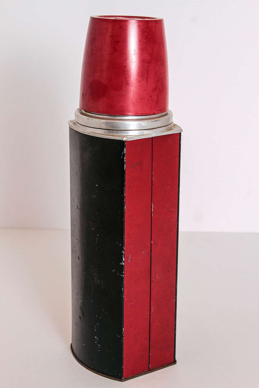 American Rare Patented Machine Age Thermos Design by Henry Dreyfuss For Sale