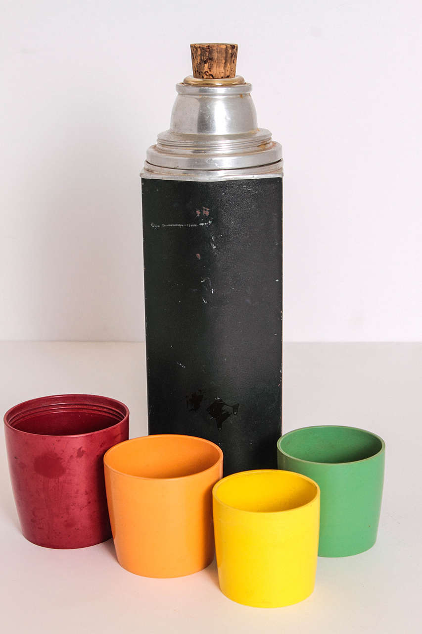 Mid-20th Century Rare Patented Machine Age Thermos Design by Henry Dreyfuss For Sale