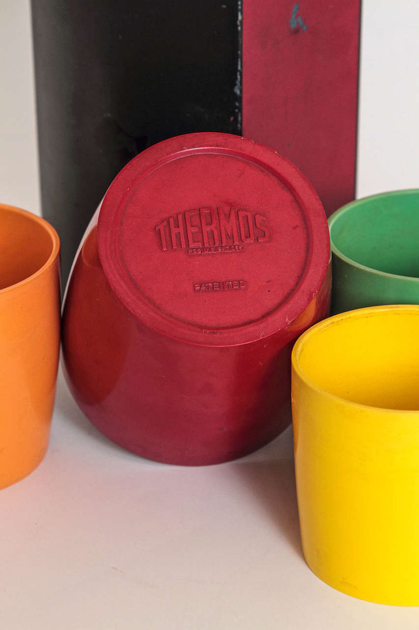 Rare Patented Machine Age Thermos Design by Henry Dreyfuss For Sale 2