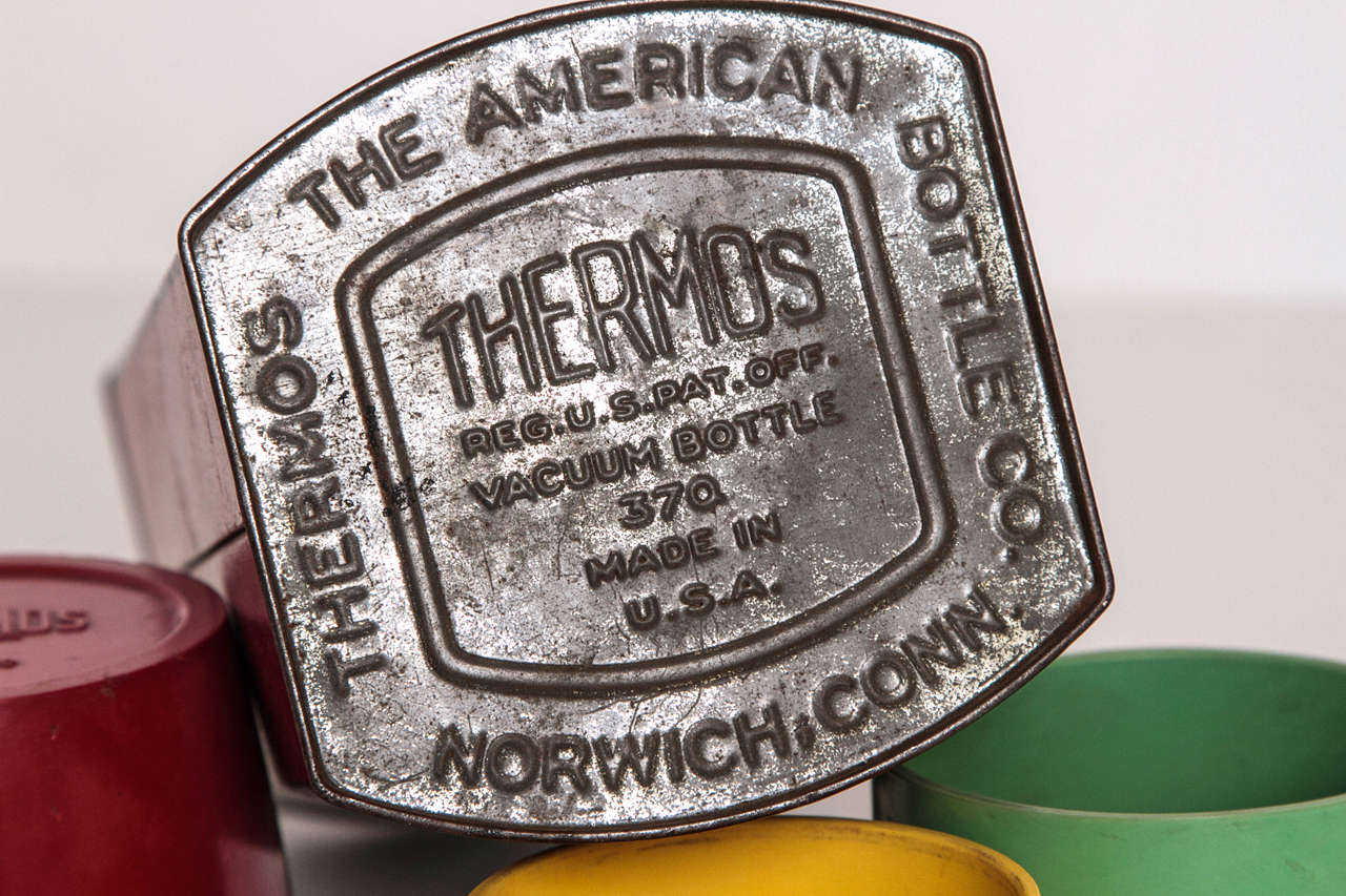 Rare Patented Machine Age Thermos Design by Henry Dreyfuss For Sale 3