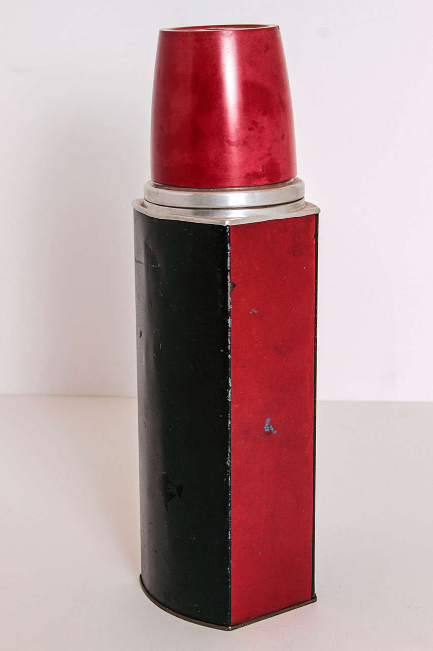 Rare Patented Machine Age Thermos Design by Henry Dreyfuss For Sale 4