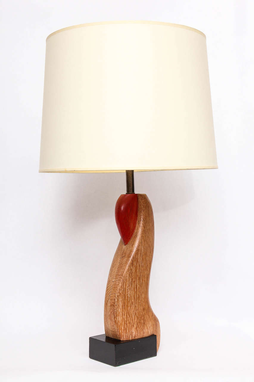 Mid-20th Century Pair of 1940s Sculptural Table Lamps For Sale