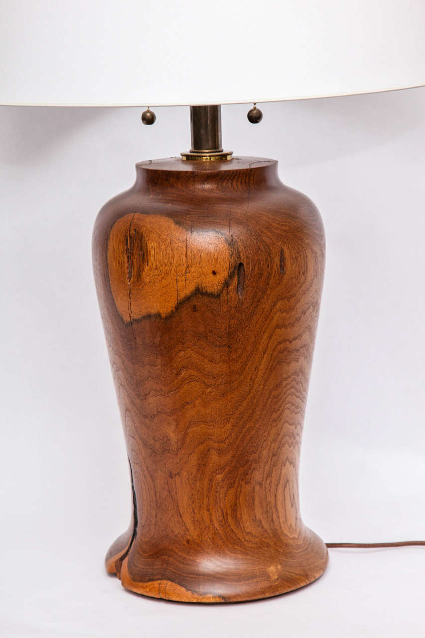 1960s Arts And Crafts Wood Table Lamp For Sale At 1stdibs